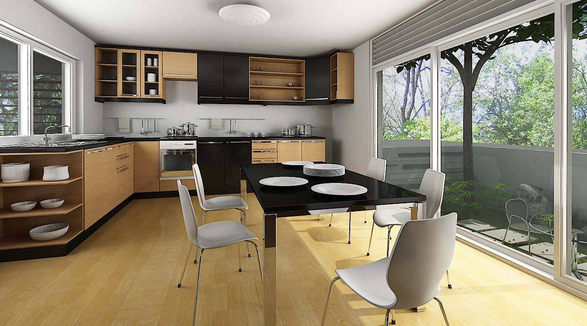 Thiết kế thi công nội thất nhà bếp biệt thự 8